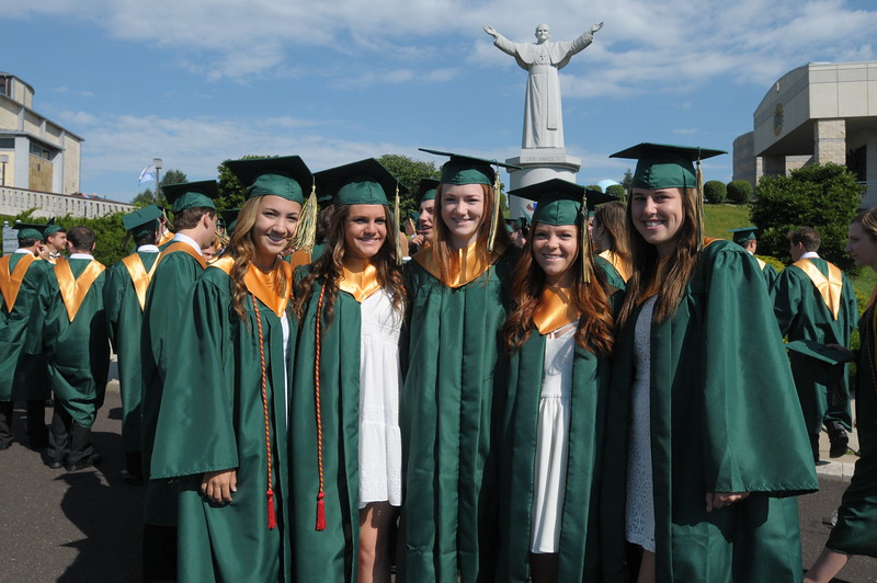 Lansdale Catholic High School holds commencement ceremony at The National Shrine of Our Lady of Czestochowa June 7, 2016. Gene Walsh — Digital First Media